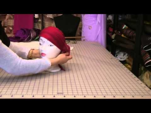 ▶ sewing hijab cap - YouTube