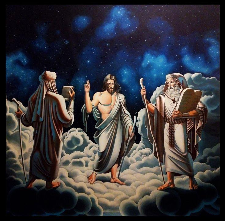EKAV-ARTIST New Generation 4 sergisi: YALÇIN BİLGİN - Hz. Muhammed, Hz. İsa, Hz. Musa Tuval üzerine akrilik, 300x300cm, 2018
