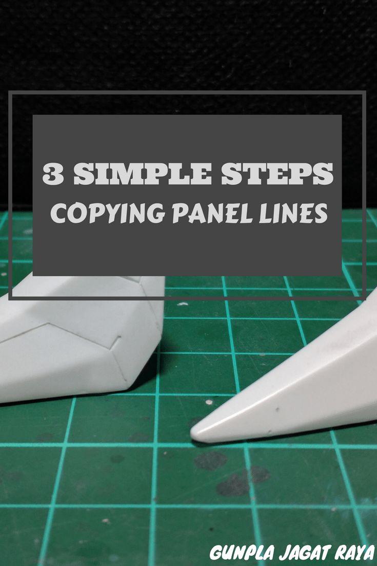 Gunpla tutorial. Gunpla techniques on  copying panel lines.
