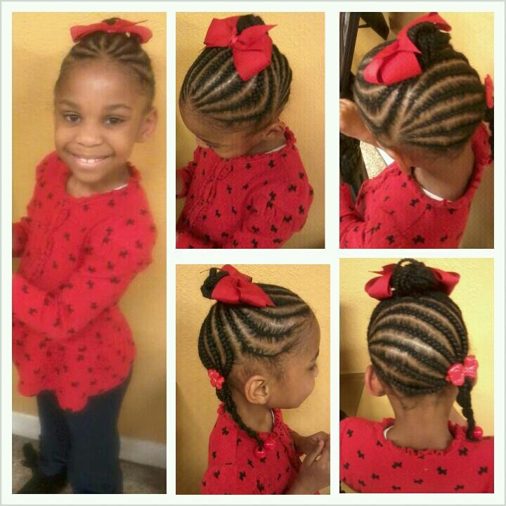 Awesome 1000 Images About Baby Girl Hairstyles On Pinterest Cornrows Hairstyles For Women Draintrainus