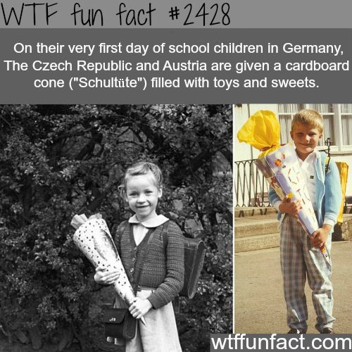 Schultute - cardboard cone filled with toys and sweets -WTF funfacts