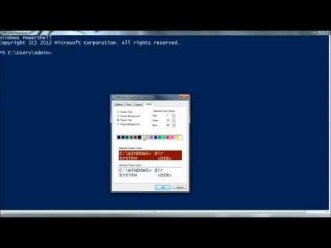 Windows PowerShell: Personalize/Customize