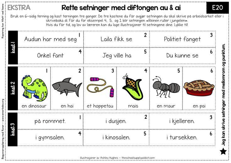 Rette – og litt morsomme setninger | Begynneropplæring med Runar