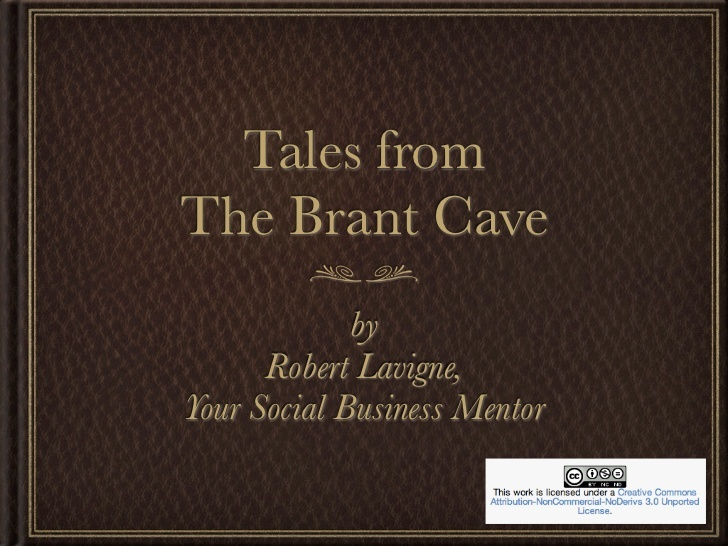 Tales from The Brant Cave by Robert Lavigne, Your Social Business Mentor    Volume One is The Brant Cave series.    Features insights from SocialBusinessMentor.com