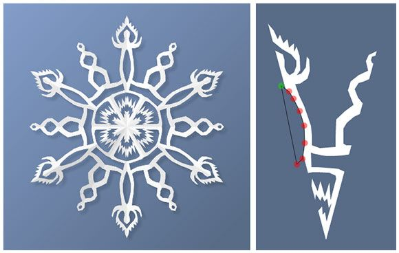 Virtual paper snowflake app - test out new patterns and see how your template will turn out.  Simple polygon cuts take some getting used to but still really cool.