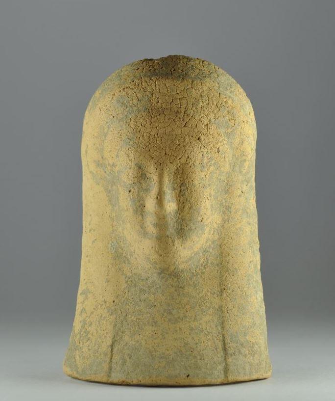 Kore protome, 6th century B.C. Magna Graecia, Kore protome, Kore terracotta protome, 11.2 cm high. Private collection