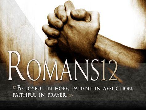 Romans 12:12 Bible Verse Art - Instant Download | Free Wallpaper ...