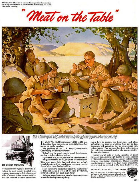 1943 Meat And More Meat Meat Vintage Ads And
