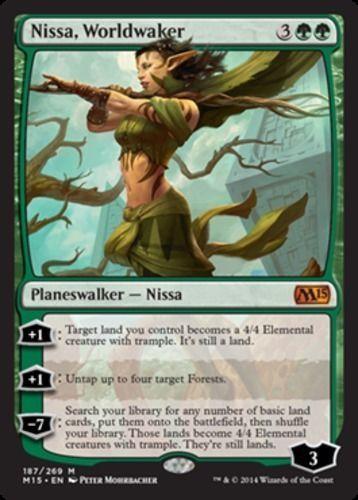 Nissa-Worldwaker-x1-Magic-the-Gathering-1x-Magic-2015-mtg-planeswalker-NM