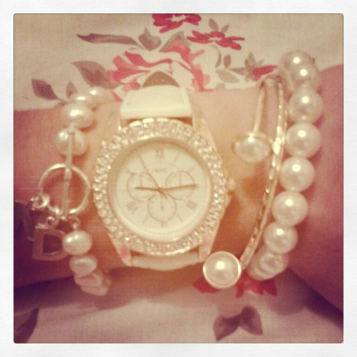 White & gold jotd, personalised bracelet