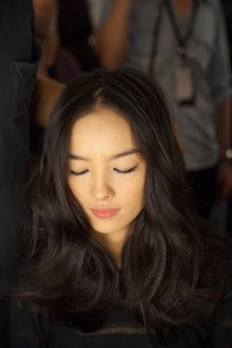 Fei Fei Sun, backstage at BCBG Spring 2013 RTW   photo by Janelle Jones