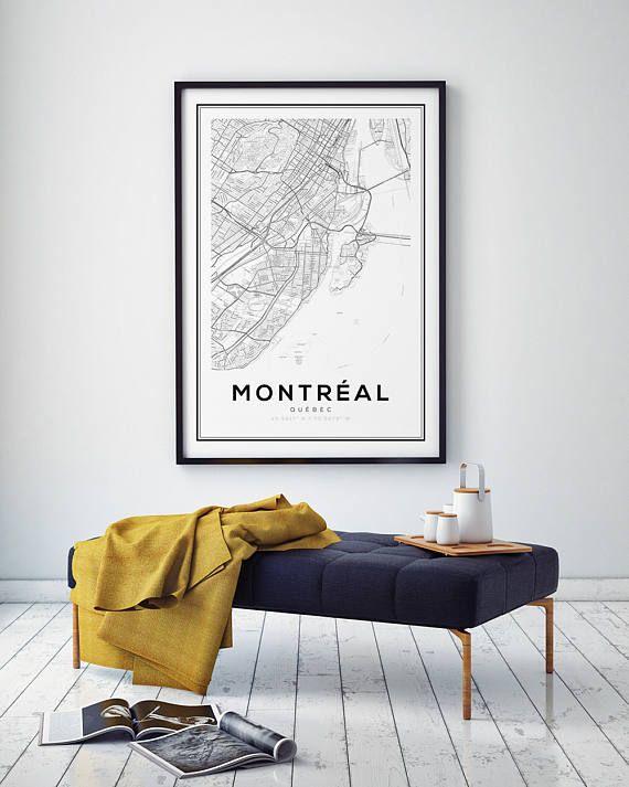 Montréal Québec impression carte impression de carte de la