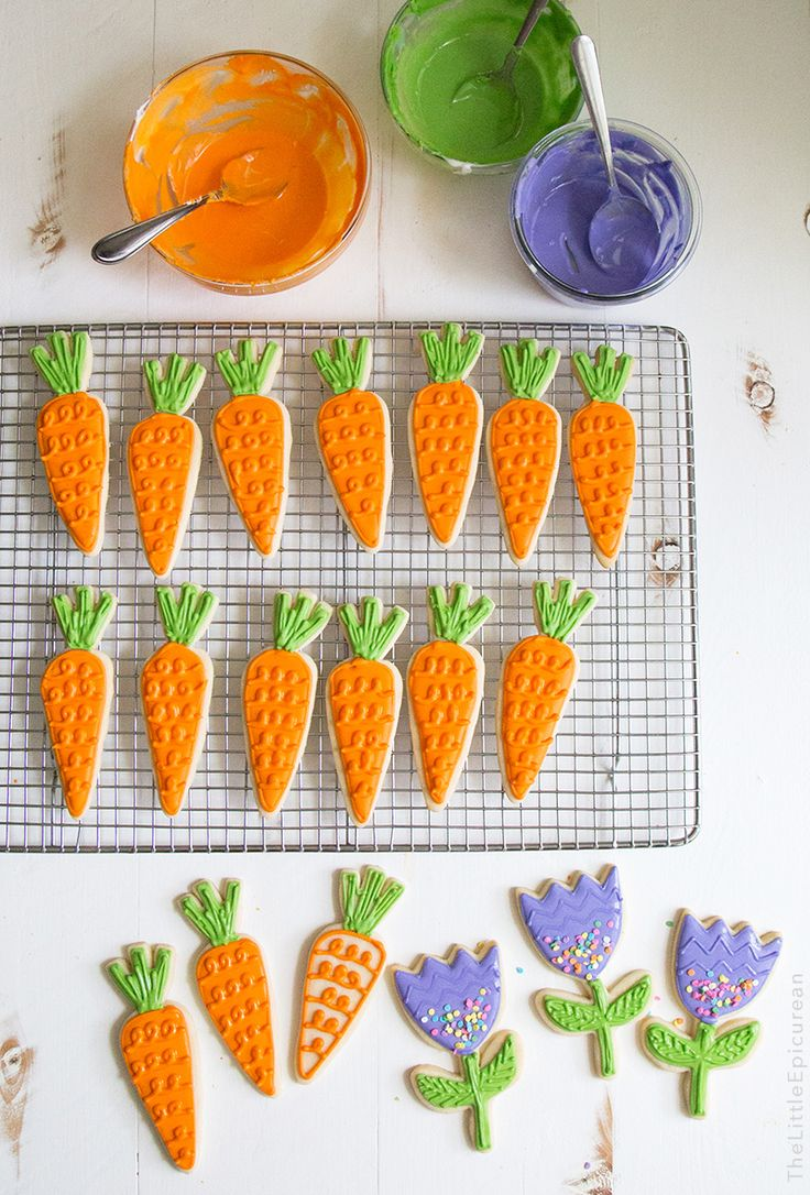 Spring Carrot Sugar Cookies | The Little Epicurean