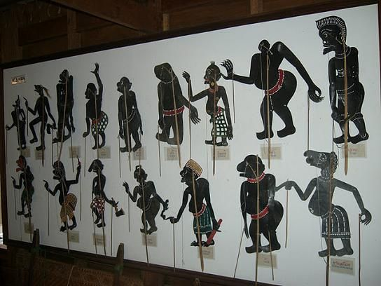 Shadow Puppets at the National Museum in Nakhon Si Thammarat in Southern Thailand