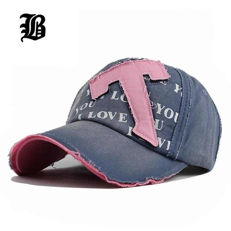 Cotton Embroidery Letter T Baseball Cap Caps Adjustable Hat Fitted Hat For Women Custom Hats