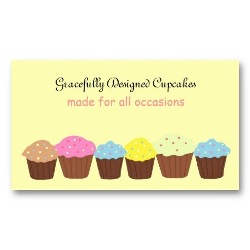 19 best cake decorating business cards images on pinterest cake gracefully designed cupcakes business cards colourmoves