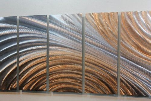 Amazon Com Over Sized Copper Silver Modern Abstract Panel Metal