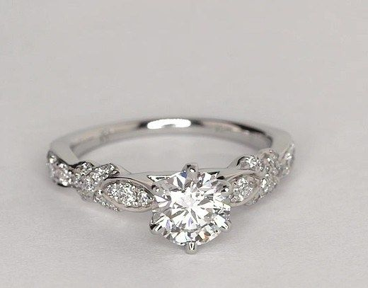 This timeless and classic setting that lets you pick what diamonds works best for you and your budget. | 31 Engagement Ring Ideas For Anyone Considering A Holiday Proposal