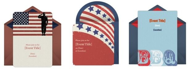 Free Memorial Day invitations from Punchbowl.