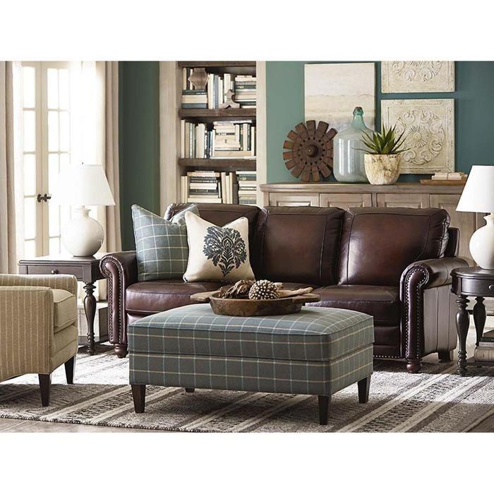 Hamilton Sofa in Saddle Leather   Nebraska Furniture Mart