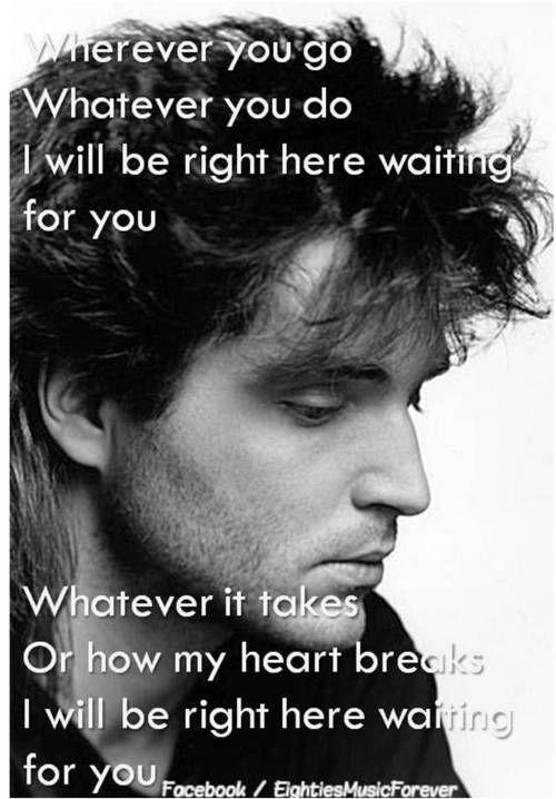 Wherever you go i will be waiting lyrics