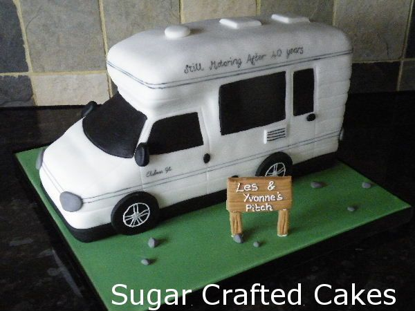 Awesome Camper Van Cake  Front View  Hee Hee I Like This View It