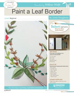 Paint beautiful borders and leaves with Jamie Dougherty. Find this great free project and more at www.willowwolfe.ca.
