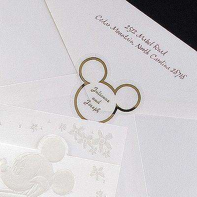 A Classic - Disney Mickey Ears Wedding Seals... Gold accent Sheri!