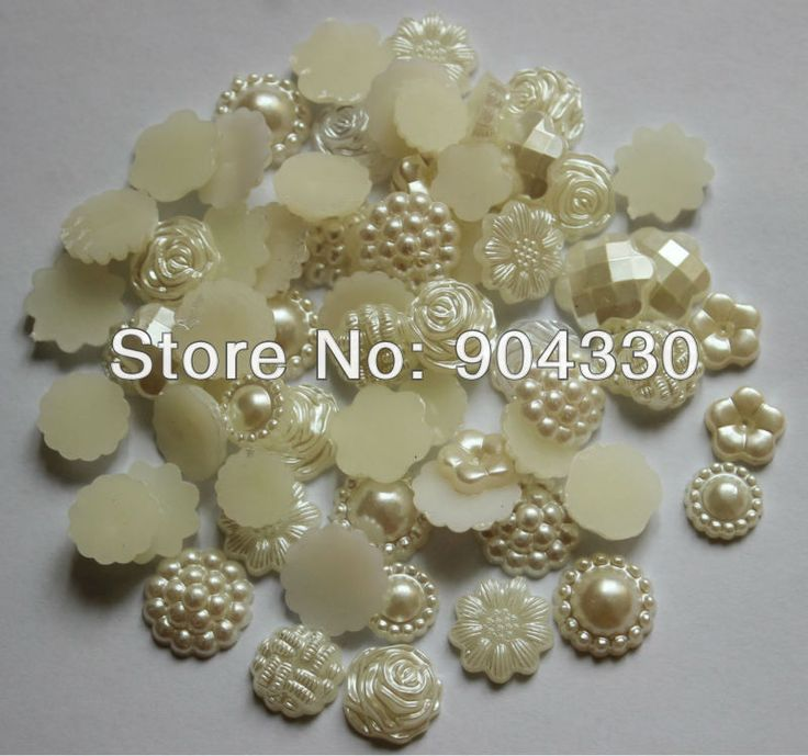 Free Shipping! 500pcs Mix 5 Flower Styles Random 13mm Flatback Imitational Pearls Scrapbooking Beads Embellishment DIY Crafts-in Beads from ...