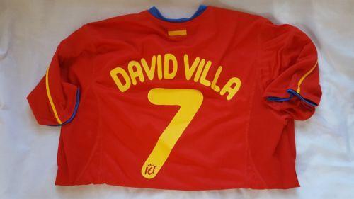 Espana-Spain-National-Team-7-David-Villa-Soccer-Futbol-Red-Jersey-Size-XL-Boys