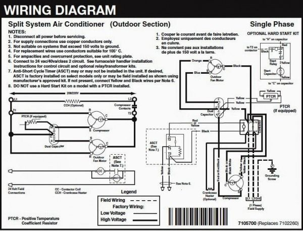 3 Phase Air Conditioner Wiring Diagram | Diagram | Electrical wiring on