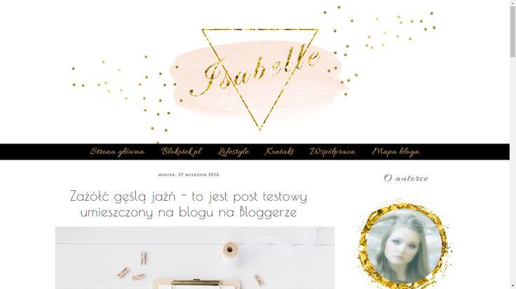 Szablon dla Bloggera - Isabelle
