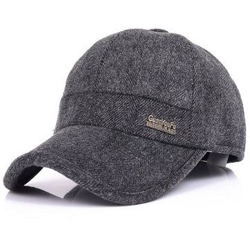 7d58a788720 Mens Woolen Thicken With Ear Flaps Baseball Hats Adjustable Warm Snapback  Caps