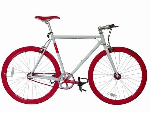 Bicicleta Ruta-Pista Blanco/Rojo NO Logo. $231990
