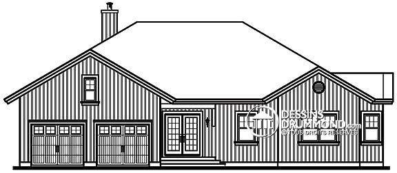 W3924 - Chalet de 5 chambres, moderne rustique, plafond 9\u0027, abri