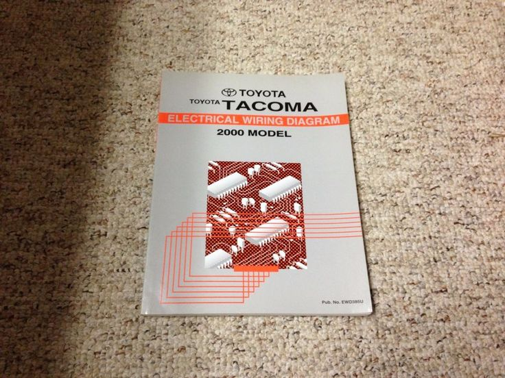 2000 Toyota Tacoma Electrical Wiring Diagram Manual 2 4l 2