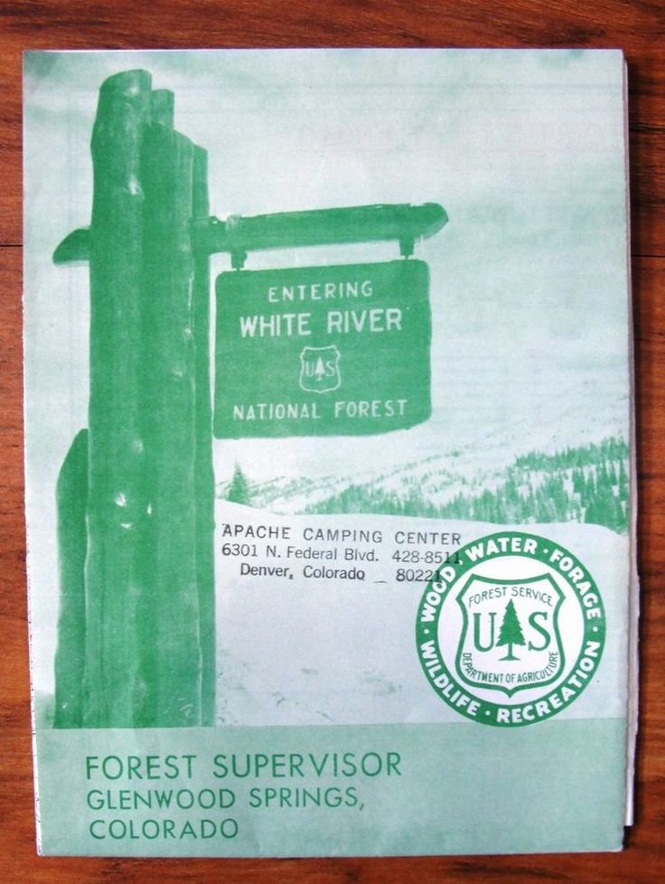 Vintage Map White River National Forest Colorado