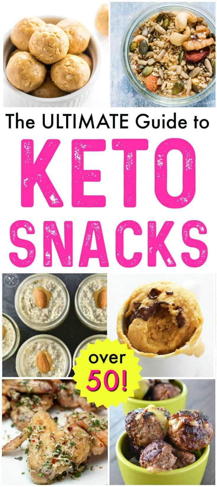 These AMAZING keto snacks will make the keto diet SO easy to follow!! You will love this huge assortment of over 50 keto friendly snacks and keto snack ideas. Includes keto snack pantry essentials too! The BEST list of ketogenic snacks. #keto #ketogenic #ketodiet #ketorecipes #ketosnacks #ketogenicsnacks via @recipespantry
