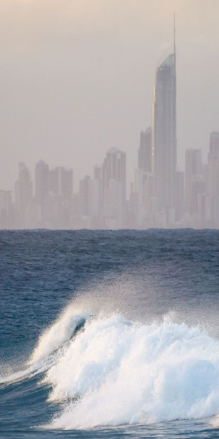 City and surf at the Gold Coast - by Jewels Lynch