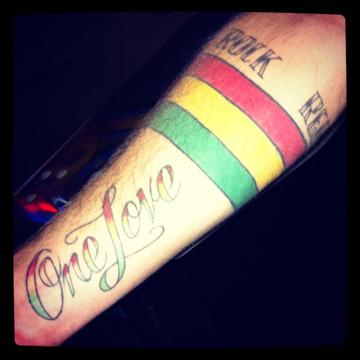 One Love.. Roots Rock Reggae.. Jamaican flag.