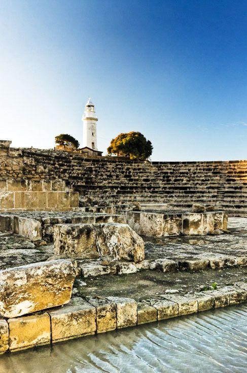 Talas Amphitheatre, Kato Paphos Archaeological Park, Cyprus