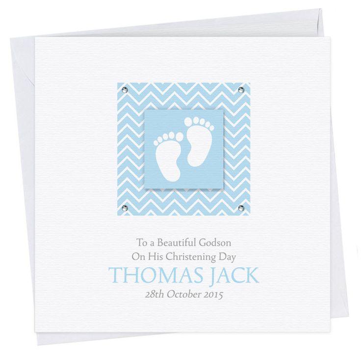 Personalised Handmade Christening Baptism Naming Day Godson Card