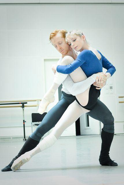 Sarah Lamb and Steven McRae rehearsing Metamorphosis: Titian 2012 alvasbfm ballet dancer