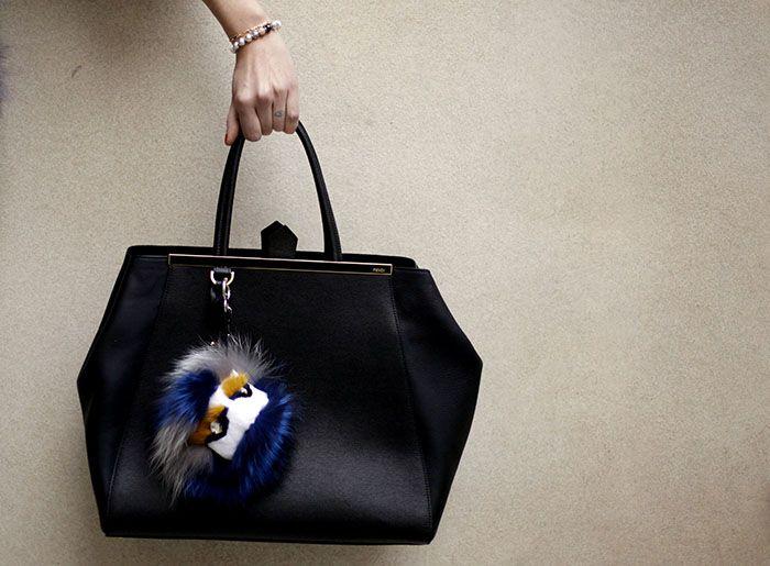 Fendi Toujours bag and Fendi accessory.    Chiara Ferragni