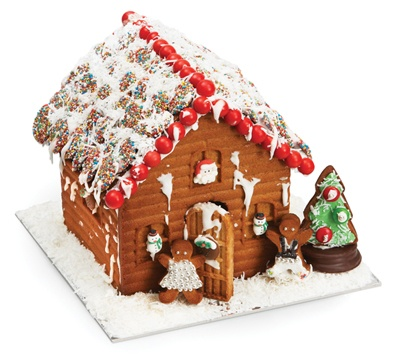 WHAT's chrstmas without a GINGERBREAD HOUSE...and they make it so easy! 3-pc. Gingerbread House Mold by Chef's Toolbox at Cooking.com #holidaycooking
