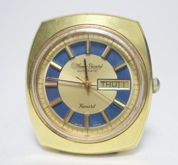 Vintage Swiss Lucien Piccard Luccard 17 Jewel Day & by Uneekitemz