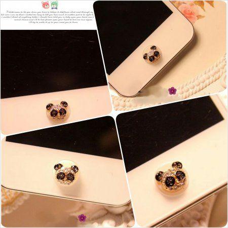 Home Button Apple Panda Hat