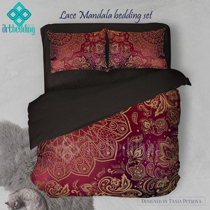 lace mandala bedding mehendi mandala duvet bedding set vintage lace duvet cover set