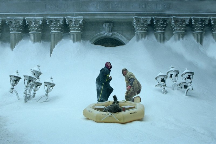 Still of Jake Gyllenhaal and Arjay Smith in The Day After Tomorrow. Love this movie to death.