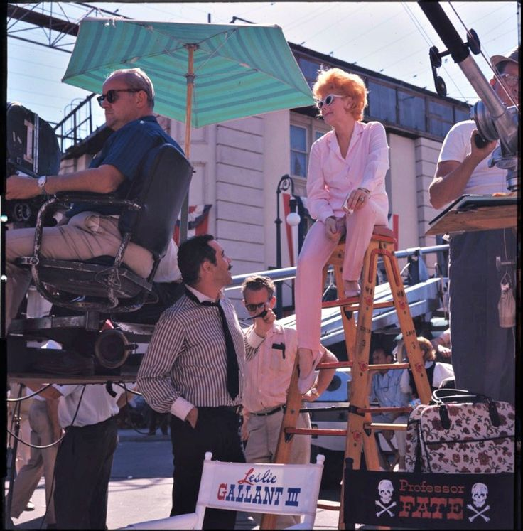 Lucille Ball on the set of the 1965 film featuring Vivian Vance